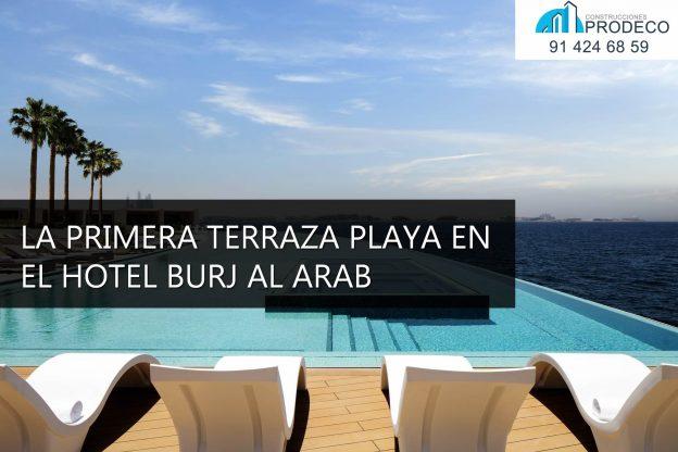El Hotel Burj al Arab Estrena la Primera Terraza Playa del Mundo